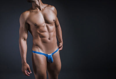 Joe Snyder JSBUL02-Denim Denim Bulge Tanga