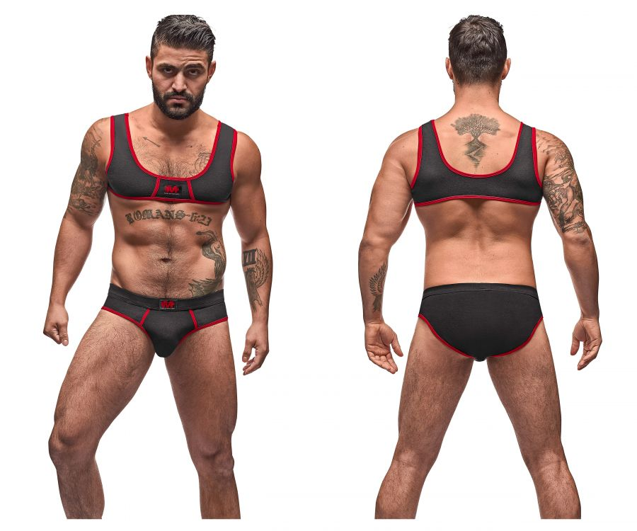 Male Power 100-052 Cotton Spandex Mini Tank Bikini Set - Mpire Men