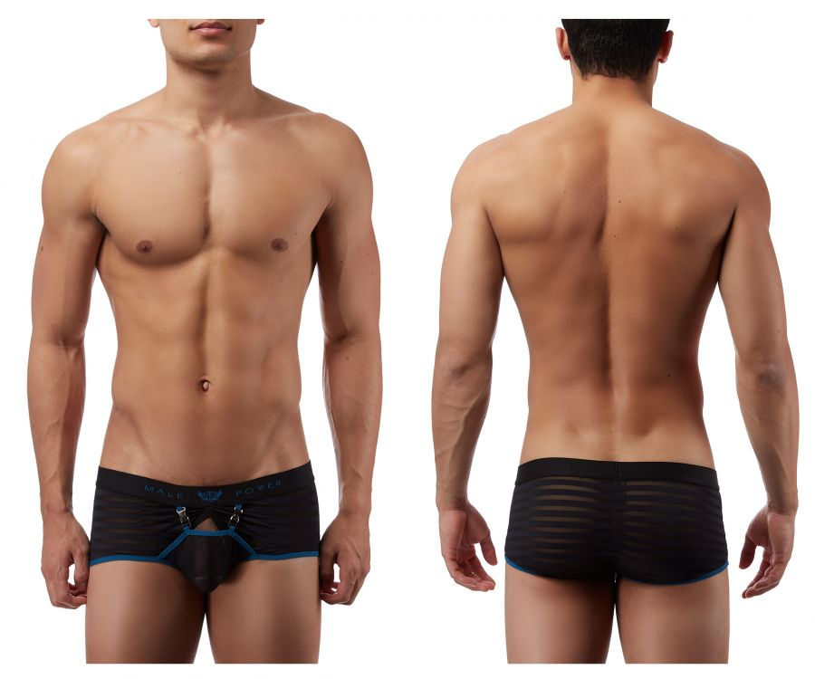 Male Power 135239 Clip Tease Clip Mini Short Boxer Briefs - Mpire Men