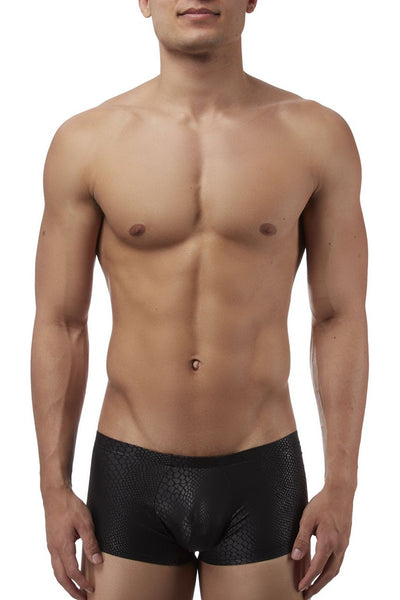 Male Power 145176 Black Cobra Mini Short Boxer Briefs - Mpire Men