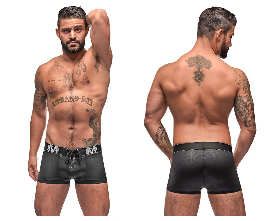 Male Power 146-250 Black Ice Lace Up Short