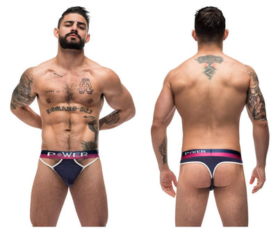Male Power 237-246 French Terry Cutout Thongs
