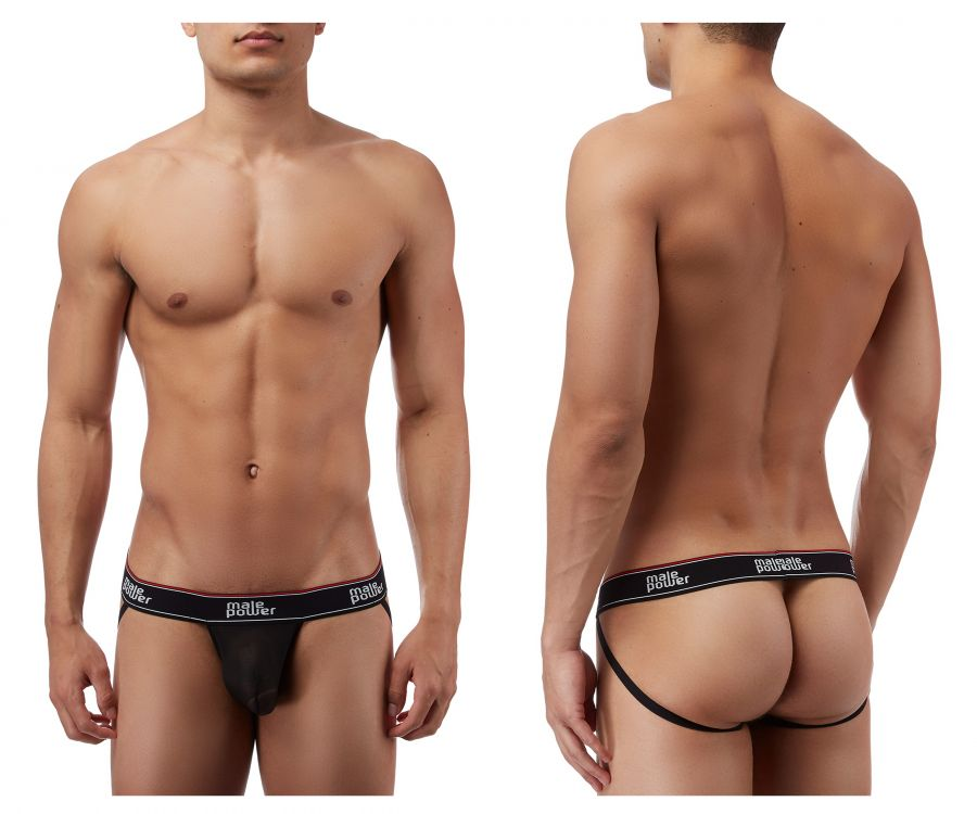 Male Power 389056 Branded Mesh Jockstrap