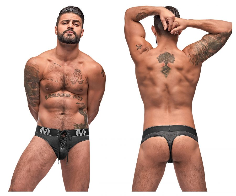 Male Power 430-250 Black Ice Lace Up Thongs - Mpire Men
