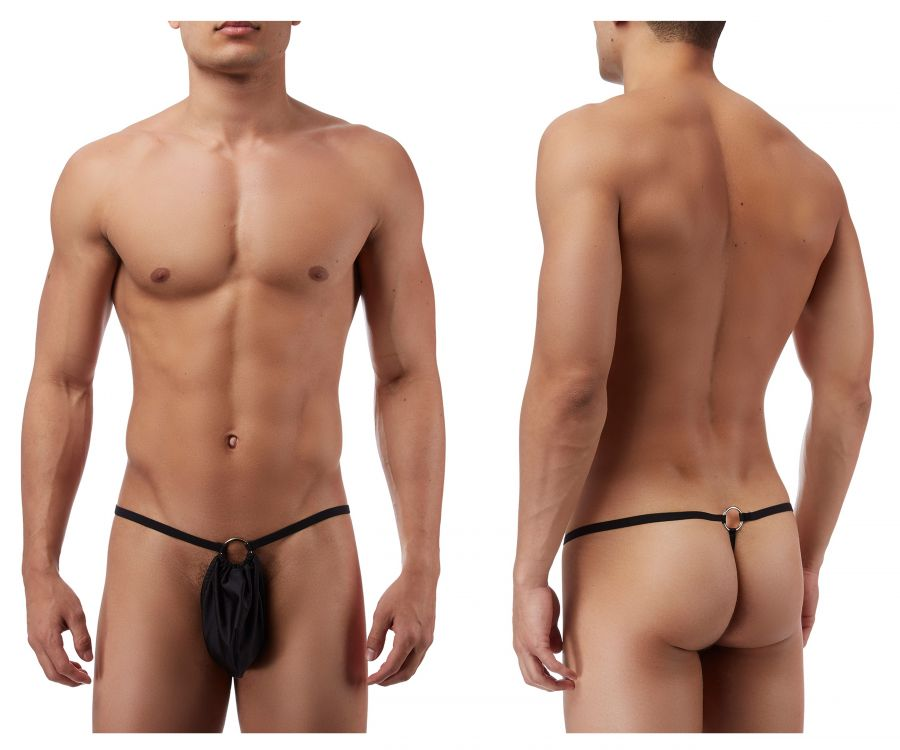 Male Power PAK825 G-String with front Ring