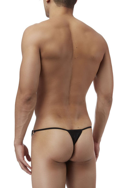 Mens Underwear Thongs, Male Power, Male Power PAK828 G-Thong with Straps and Rings - Mpire Men's Fashion