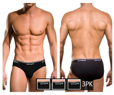 Papi 554101-001 3PK 1X1 Rib Low Rise Brief - Mpire Men