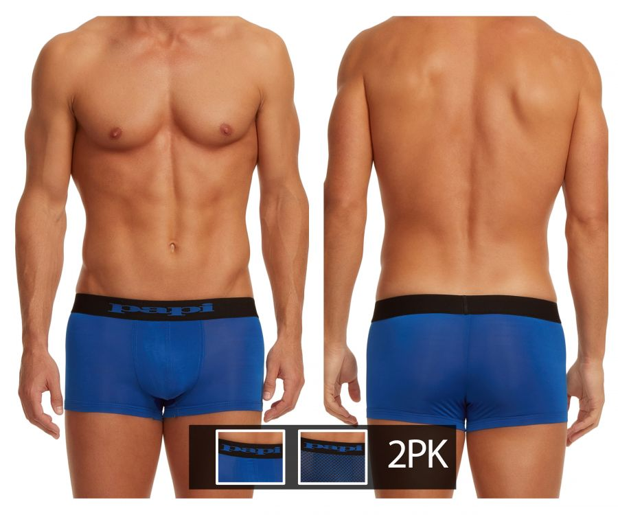 Papi 626173-968 2PK Cool 2 Neat Brazilian trunks - Mpire Men