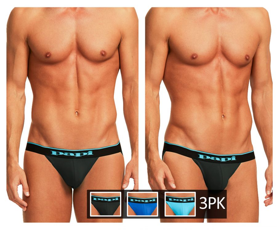 Papi 980911-941 3PK Cotton Stretch Jockstrap - Mpire Men