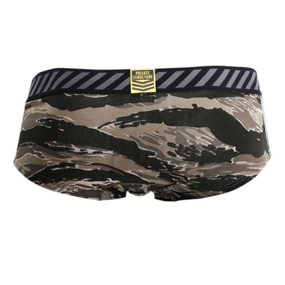 Private Structure SCUZ3782 Soho Camouflage Low Rise Hipster - Mpire Men