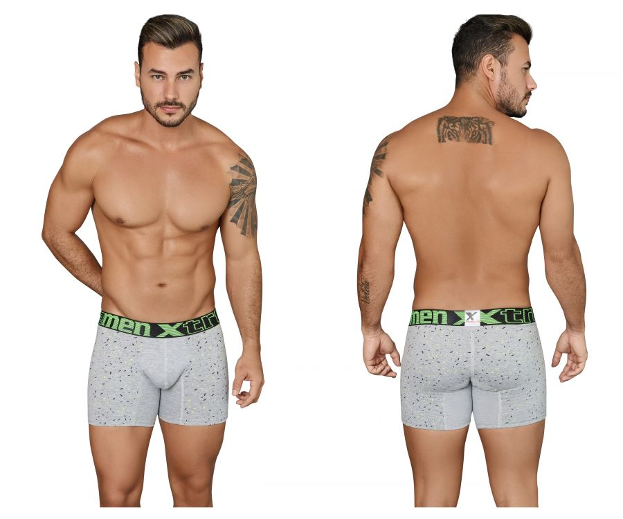 Xtremen 51424 Boxer Briefs Printed Cotton