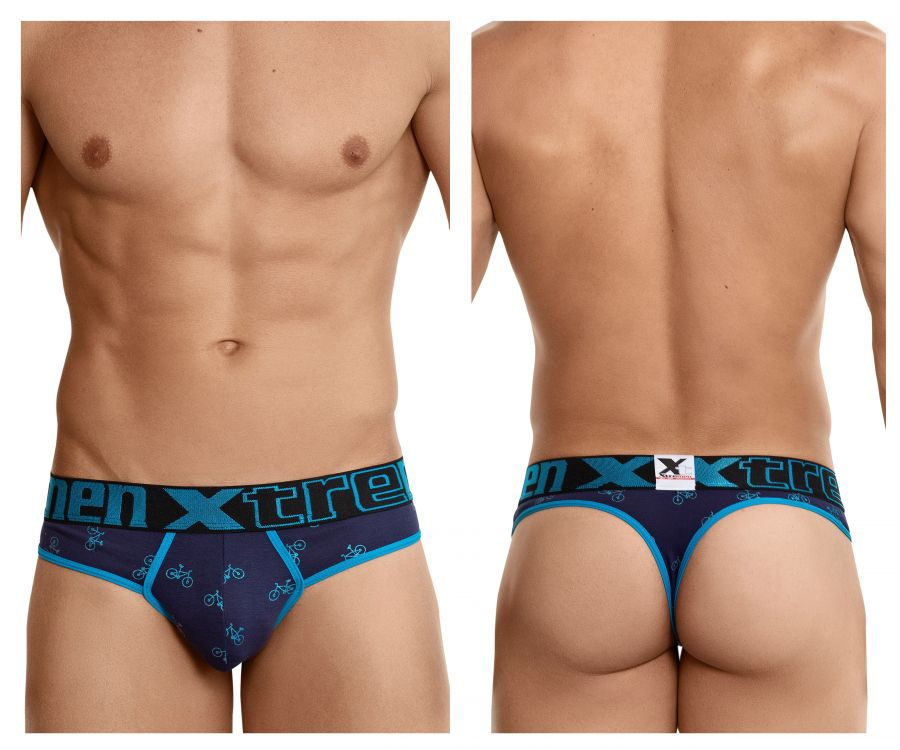 Xtremen 91041 Cycling Print Thongs - Mpire Men