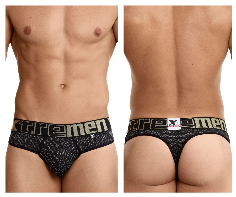 Xtremen 91044 Ethnic Jacquard Thongs - Mpire Men