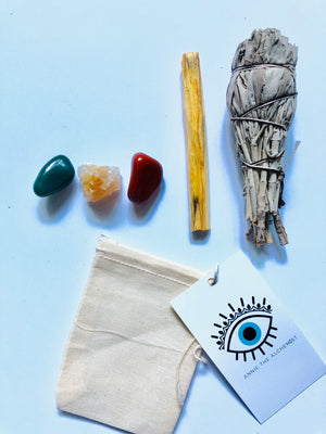 Courage & Will Power Grounding Crystal Kit
