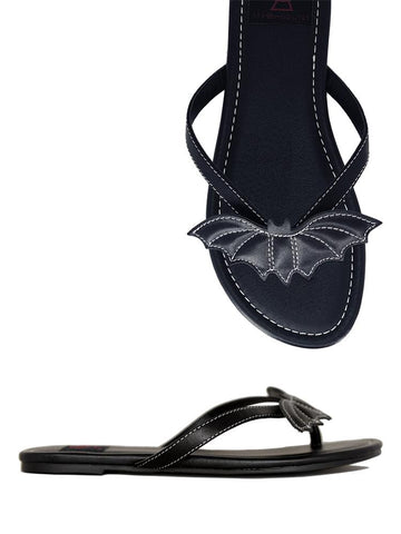 Strangecvlt Betty Bat Black Sandal