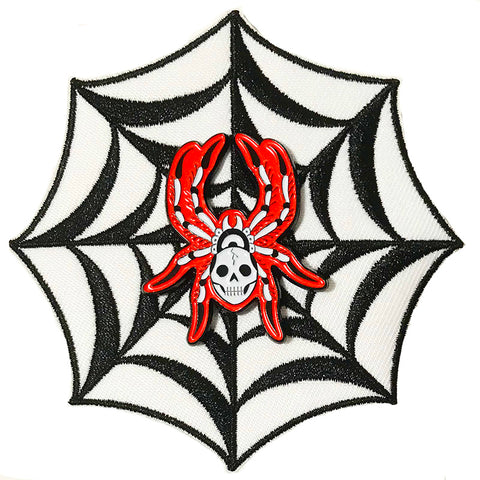 Thrillhaus Spider/Web Patch and Pin Set