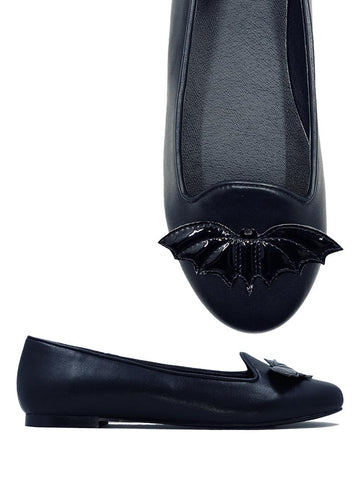 Strangecvlt Lydia Bat Flat All Black