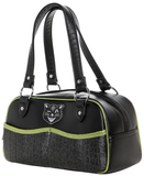 Sourpuss Jinx Tessa Purse Black / Green