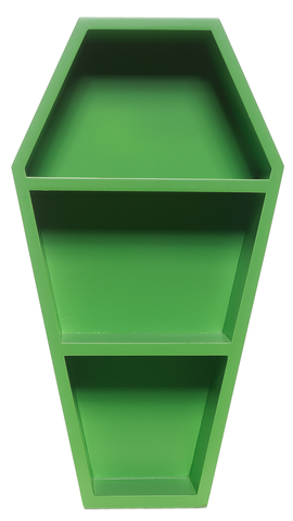 Sourpuss Coffin Wall Shelf Green