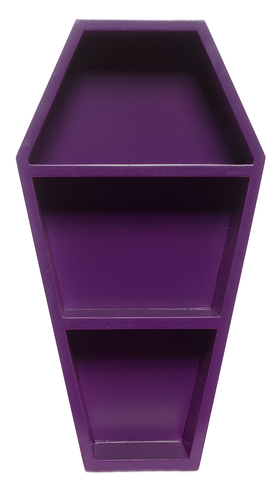Sourpuss Coffin Wall Shelf Purple