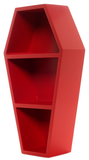 Sourpuss Coffin Wall Shelf Red