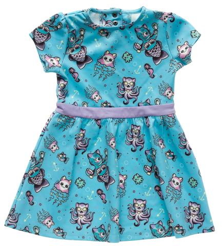 Sourpuss Kittens Of The Sea Kids Dress