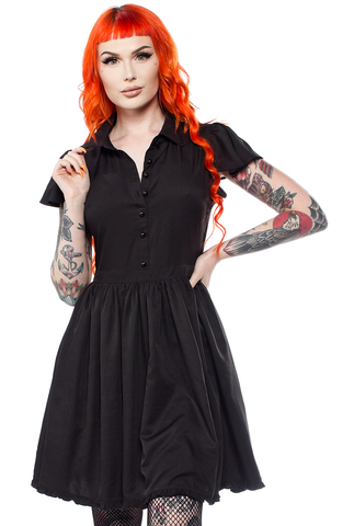 Sourpuss Blackest Black Lydia Dress