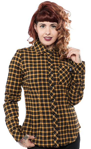 Sourpuss Maryann Flannel Top Mustard