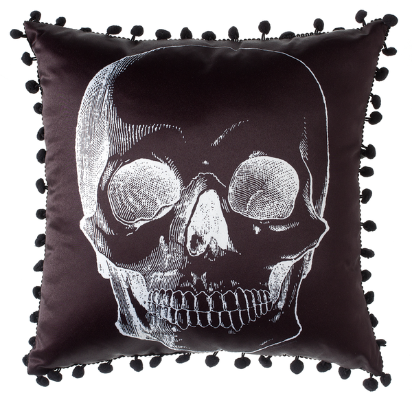 Sourpuss Skull Pillow