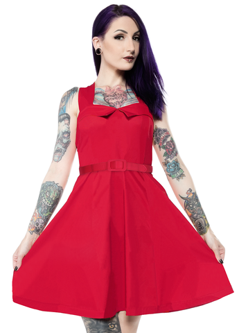 Sourpuss Veronica Swing Dress Red