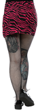 Sourpuss Zebra Five Pocket Mini Skirt Hot Pink