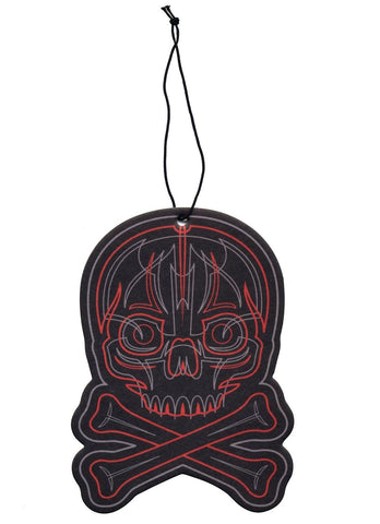 Sourpuss Pinstriped Skull Air Freshener