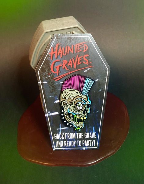 Haunted Graves Zombie Party Enamel Pin
