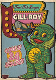 Haunted Graves Gill Boy Creature From The Black Lagoon Print