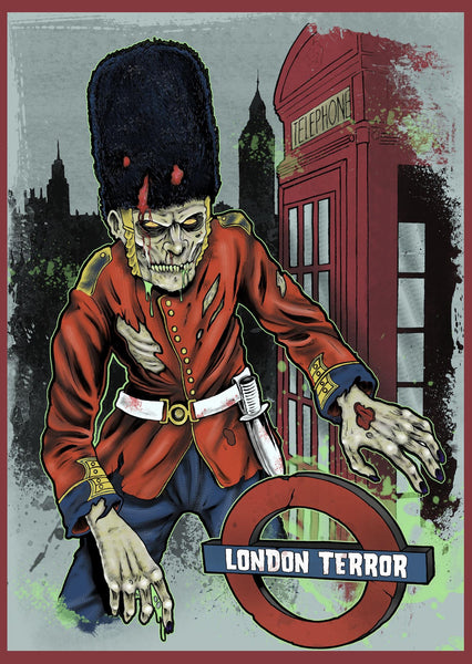 Haunted Graves London Terror Postcard