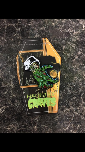 Haunted Graves Creeps Enamel Pin