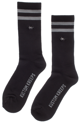 Kustom Kreeps Barbed Wire Embroidered Guys Socks