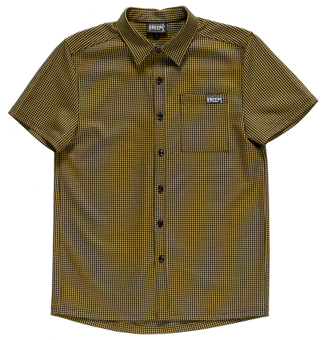 Kustom Kreeps Mustard Check Button Down Shirt