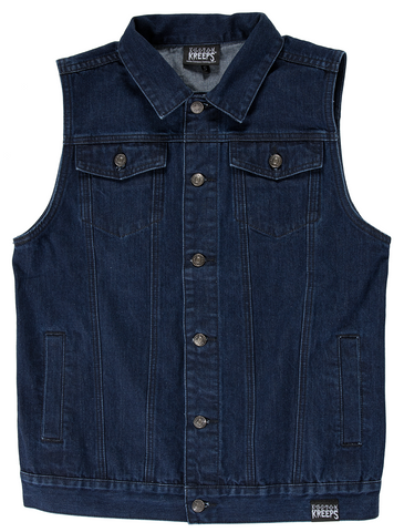 Kustom Kreeps Denim Vest Blue