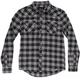 Kustom Kreeps Western Button Down Blk / Wht Plaid