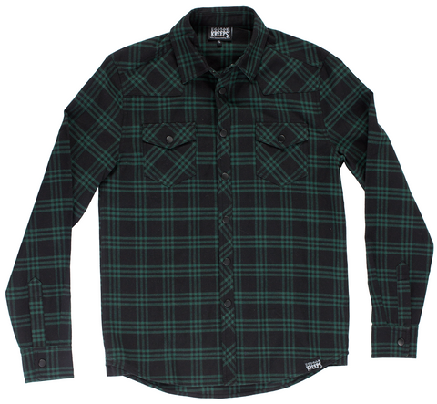 Kustom Kreeps Western Button Down Green Plaid