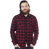 Kustom Kreeps Western Button Down Red Plaid