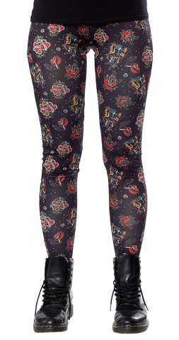 Sourpuss Punk Rock Girl Leggings