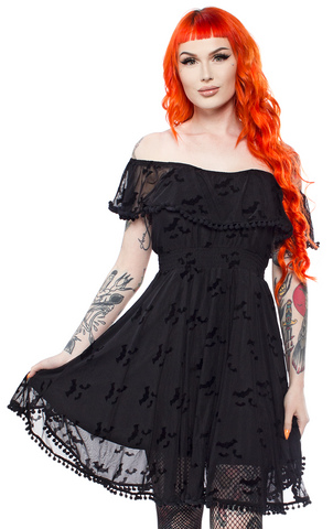 Sourpuss Bat Cloud Fiesta Dress