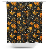 Sourpuss Classic Halloween Shower Curtain