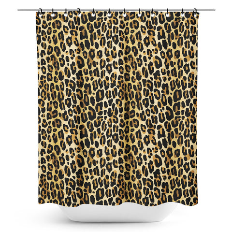 Sourpuss Leopard Shower Curtain