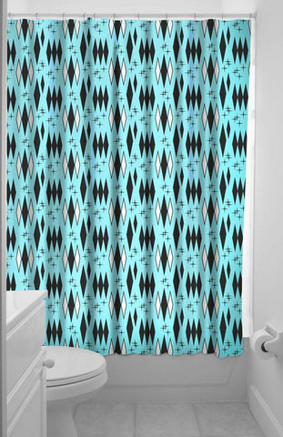 Sourpuss Retro Diamond Shower Curtain