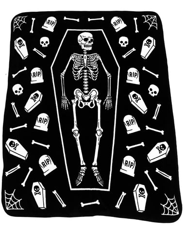 Sourpuss Skeleton Blanket