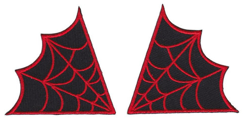 Sourpuss Spiderweb Collar Patches Red