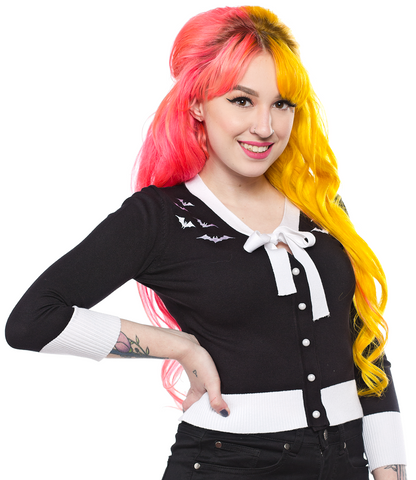 Sourpuss Batty Cropped Cardigan